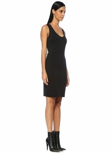 The Row Borelle Kolsuz Midi Streç Elbise Siyah